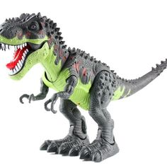 Light Up T-Rex Walking Dinosaur Kids LED Toy Figure With Sounds Real Movement AG