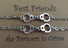Best Friends aka Partners in Crime Bracelet Set