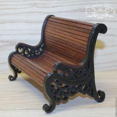 Купить Деревянная декоративная скамейка. - скамейка, скамеечка, скамейка декоративная, декоративная скамейка, миниатура