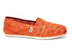 Neon Coral Crochet Womens Classics | TOMS.com #toms