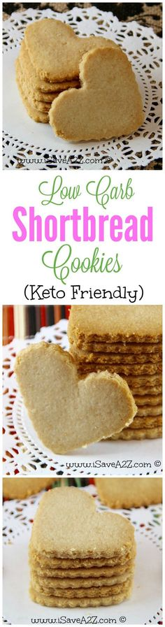 Low Carb Shortbread Cookies - Keto Friendly Recipe  YAY!!!!  I can have cookies on the Keto Diet!!!!!