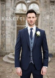 1d7895048a7 Cusack Navy Tailored Fit Suit by Benetti