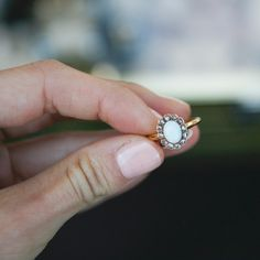 randolph street market chicago - antique ring - opal
