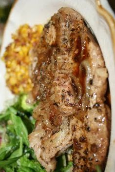 Easy Pork Chop and Onion Bake - My hubby really like this.  I served it with mashed red-skinned potatoes and fried squash.  The broth from the pork chop bake was delicious poured over the mashed potatoes.