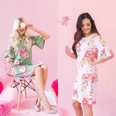 You have to buy one of these signature Poppy & Dot dresses! The green and pink floral bell sleeves are a silky material with no stretch. Both are beautiful and perfect for the summer heat! Use my code NATRAWL10 for 10% off your entire purchase 🦄 #poppyanddotrockstar #poppyanddotambassador