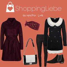 """Rüschen, Perlen, Herzen – Das lässt Mädchenherzen höher schlagen. Bei unserem heutigen Outfit des Tages """"Verspielter Look"""" erfreuen wir uns an den kleinen Dingen des Lebens.  Pullover: http://shoppingliebe.de/goto/plnPO53loF Mantel: http://shoppingliebe.de/goto/CISiQdLcBh Schuhe: http://shoppingliebe.de/goto/E0nakEt9FJ Ohrenwärmer: http://shoppingliebe.de/goto/er5PLyiOJG Tasche: http://shoppingliebe.de/goto/lGDCa0IZ1T Leggins: http://shoppingliebe.de/goto/zVYkGwsicH"""