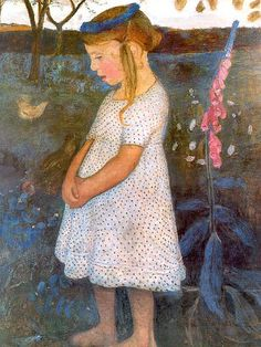 ⊰ Posing with Posies ⊱ paintings & illustrations of women & children with flowers - Paula Modersohn-Becker
