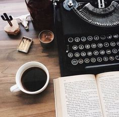 Find images and videos about book, coffee and typewriter on We Heart It - the app to get lost in what you love. Anais Nin, Writing A Book, Writing Tips, Aesthetic Writing, Writing Machine, Future Jobs, Coffee And Books, Book Photography, Writing Inspiration
