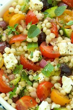 Mediterranean Chopped Salad -  loaded with fresh vibrant flavors.