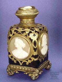 Palais Royal Cameo Bottle                Designer/Maker:Palais Royal; probably by Baccarat  Origin:France, 1850's
