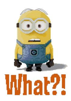 Minion Counted Cross Stitch Pattern, $5