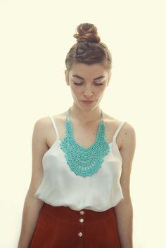 Cotton Collars Deco by HandHookYearn #Collar #CrochetCollar