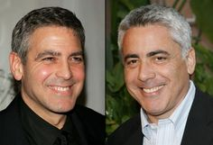 Another comparison of George Clooney and Adam Arkin....especially from their nose down they're close to identical