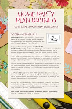 Start your own party planning business work pinterest party home party plan business accmission