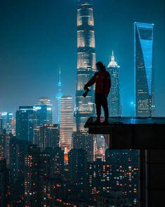 Cyberpunk Aesthetic, Cyberpunk City, Parkour, Urban Photography, Night Photography, Arte Sci Fi, Sci Fi City, Photoshoot Themes, City Wallpaper