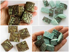 textured beads by Anna Jour, via Flickr