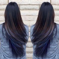 cabelo colorido para morenas