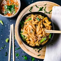 The Best Asian Noodle Bowl - Plum Street Collective Asain Noodles, Pasta Noodles, Asian Recipes, Healthy Recipes, Ethnic Recipes, Beef Sauce, Noodle Bowls, Fresh Ginger, How To Cook Pasta