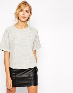 Shop By Zoe Grey Strip Short Sleeve Shirt at ASOS.