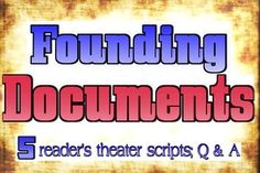 5 scripts that show how various documents contributed to the modern United States government. (19 pages covering the Magna Carta, Mayflower Compact, Declaration of Independence, Articles of Confederation and the Constitution with Q & A and 2 graphic organizers)