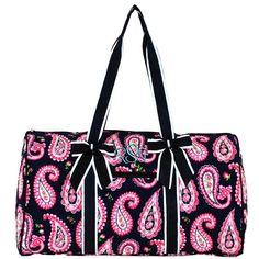 Damask Pattern Emerald Green And White Custom Waterproof Travel Tote Bag Duffel Bag Crossbody Luggage handbag