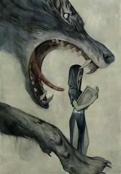 why should I fear the wolf? she asks as she turns the page. I know his name.