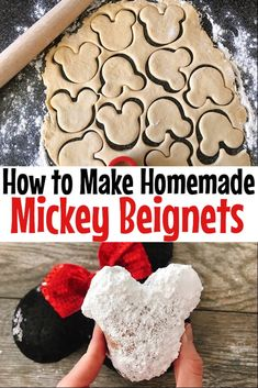 A fun recipe to make a favorite Disney treat at home! See how easy it is to make Mickey Beignets and a little bit of Disney magic! #Disney #Disneyland #Disneytreat #disneysnack #disneyfood #dessert #kidfriendlyrecipe