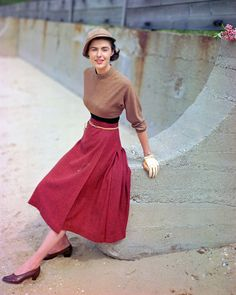 Modeling Tweed Skirt and Sweater