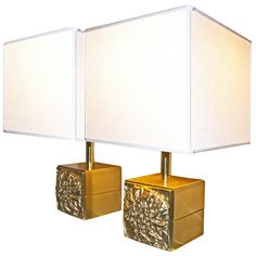 Anonymous, Italian Brass Table Lamps, 1970s.