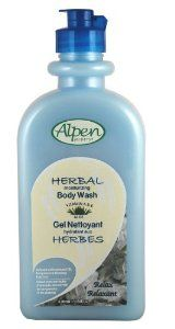 Alpen Secrets Herbal Therapy Relax Body Wash, 14.5 OUNCES Bottles (Pack of 3) by Alpen Secrets. $17.97. Rich lather both cleans and rehydrates while you shower. Luxurious Body Wash formula designed to clean, nourish and revitalize your natural energy. Natural extracts of Begamot, Almond Oil, Ginseng with Vitamin A,E & Aloe. Alpen Secrets Herbal Therapy Body Wash is designed to give you that spa experience right in you own home. Breathe the natural Eucalyptus Oil and fee...