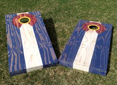 Have to show our Colorado love, backyard cornhole is a must have at BBQs.