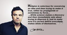 Thank you, Seth, for making me feel like I'm not alone when everyone starts talking religious talk around me.