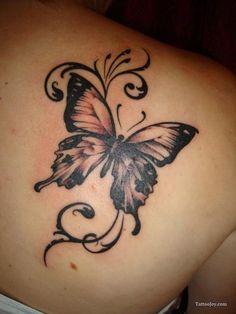 big butterfly/black tones