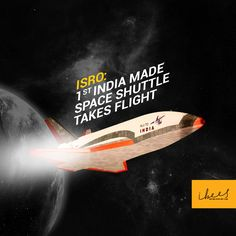 Great #news to start the day.... #ISRO successfully test launches the first 'Made in India' space shuttle — called the Reusable #Launch Vehicle (RLV).  #MakeInInda   #FeelingProud   #India