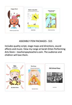 I have been a performing arts specialist for twenty years and have written whole school musicals and many assembly items over the years. All my work is quality and will be adored by the audience and the children. Drama School, Art School, Teaching Style, Strong Relationship, Performing Arts, Art Store, Three Kids, Teacher Pay Teachers, Primary School