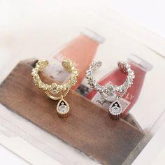 18KRP Red Crystal January Birthstone Stud Earrings
