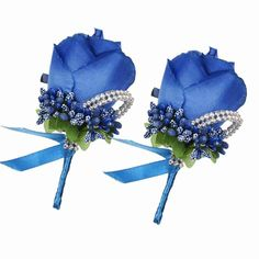 Royal Blue Wedding Decorations, Blue Wedding Centerpieces, Blue Wedding Flowers, Wedding Ceremony Decorations, Bridal Flowers, Rose Wedding, Purple Wedding, Wedding Ideas, Bridesmaid Flowers