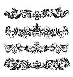 Swirl border vector flower frame by SamiVector on VectorStock® Flower Frame, Flower Art, Weird Facts, Crazy Facts, Tattoo Samples, Rosemaling Pattern, Symbol Tattoos, Vector Flowers, Flower Power