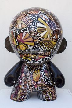 KIDROBOT kid robot mega munny sculpture painting vinyl toy contemprary fine art  modern by ChrisRiggsArtGallery