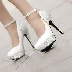 Pretty High Heels Platform Tassel Wihte Wedding Shoes Small One Yard 10971820 - Wedding Shoes - Dresswe. High Heels Boots, Platform High Heels, Lace Up Heels, Sexy High Heels, High Heel Pumps, Pumps Heels, Stiletto Heels, Shoe Boots, High Heels For Prom