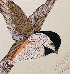 Quilling: chickadee