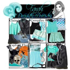 Requested by far-ra-ree: Farah Daughter of Poseidon ~ Wardrobe