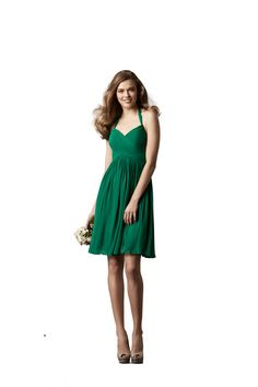 THIS JUST IN! Watters 'Mulberry' (Cocktail) Bridesmaid Dress in Emerald Green | Weddington Way $230