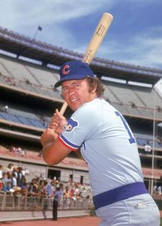 Ron Santo, Chicago Cub Hall of Fame 3rd Baseman. http://www.kingsofsports.com/