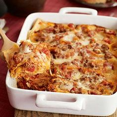 Four-Cheese Lasagna Recipe from our friends at Philadelphia Cream Cheese