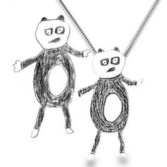 This site takes your kids drawings and makes them into silver pendants or cuff links.
