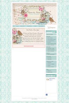 Cantinho do blog Layouts e Templates para Blogger: Personalização de Loja Ilúria - Mimos da Maria