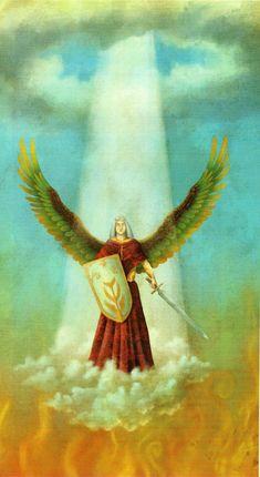 Arcángel San Miguel.  Son los ángeles jefes, los grandes comandantes de las fuerzas angelicales. Su misión es establecer el contacto directo con Dios Padre. Algunos los han señalado como seres superlumínicos, y cuya existencia está profusamente documentada en los textos sagrados. Confidentes de los más secretos consejos de Dios, son enviados solamente a la tierra con embajadas especiales de gran importancia. Son entes espirituales de gran poder que guían a grandes grupos de personas y ejércitos.