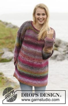 "Free Pattern Knitted DROPS jumper in 2 strands ""Delight"". Size: S - XXXL. ~ DROPS Design"