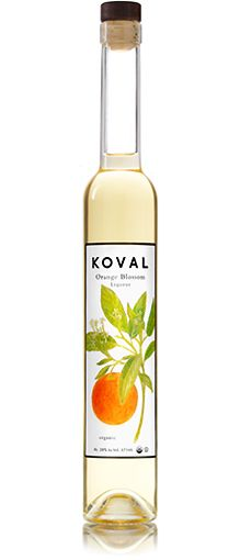 KOVAL Orange Blossom Liqueur.  Adds a soft and floral addition to cocktails.  Mixes well with champagne, gin, and vodka.